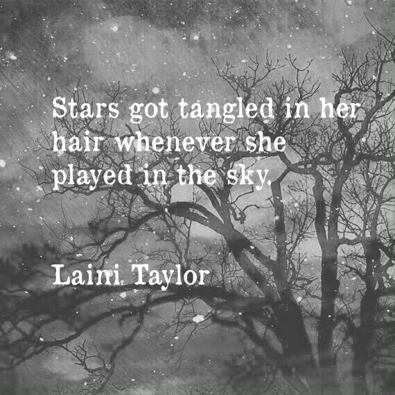 Star got tangled in her hair whenever she played in the sky.