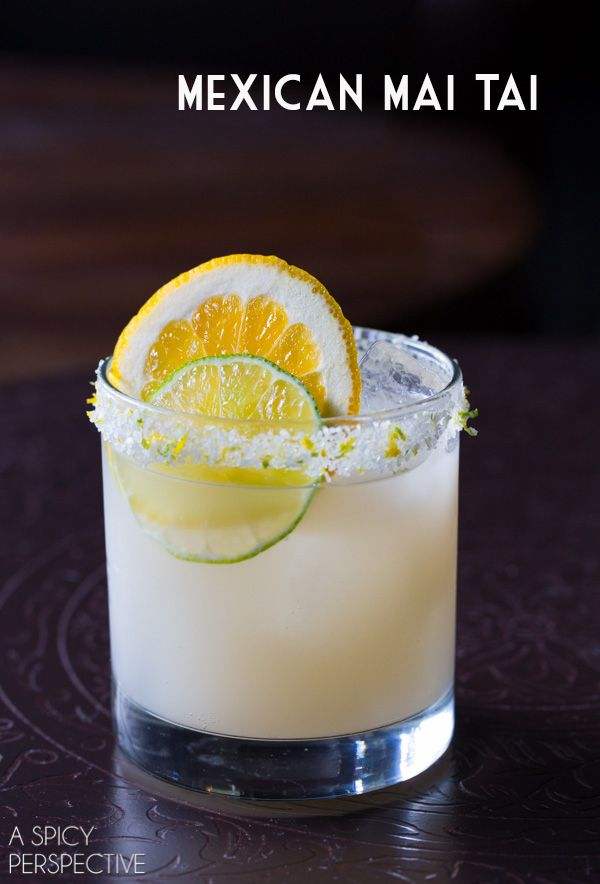 A twist on the classic Mai Tai cocktail that is a little less sweet than the original, and incorporates tequila. It's citrusy, bright, and refreshing. A