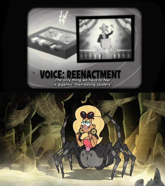 Image result for gravity falls the only thing we have to fear is giant man-eating spiders