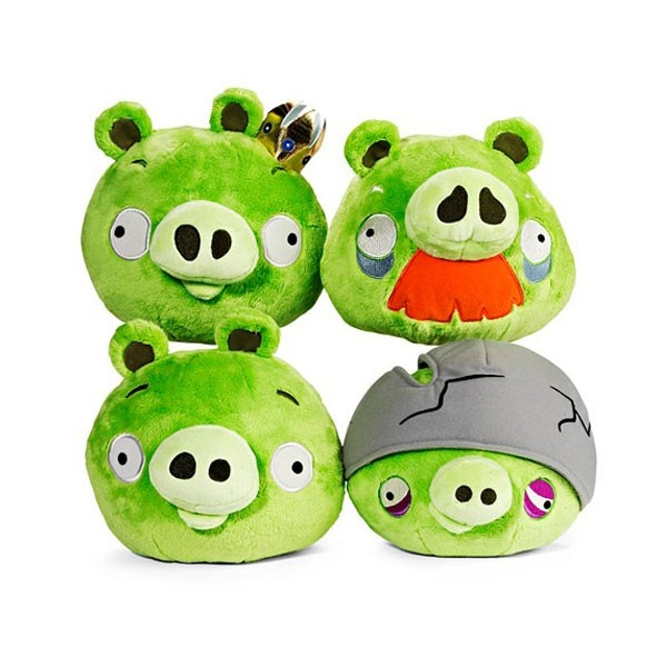 Angry Birds Assortment Of Four Pig Plush Toys