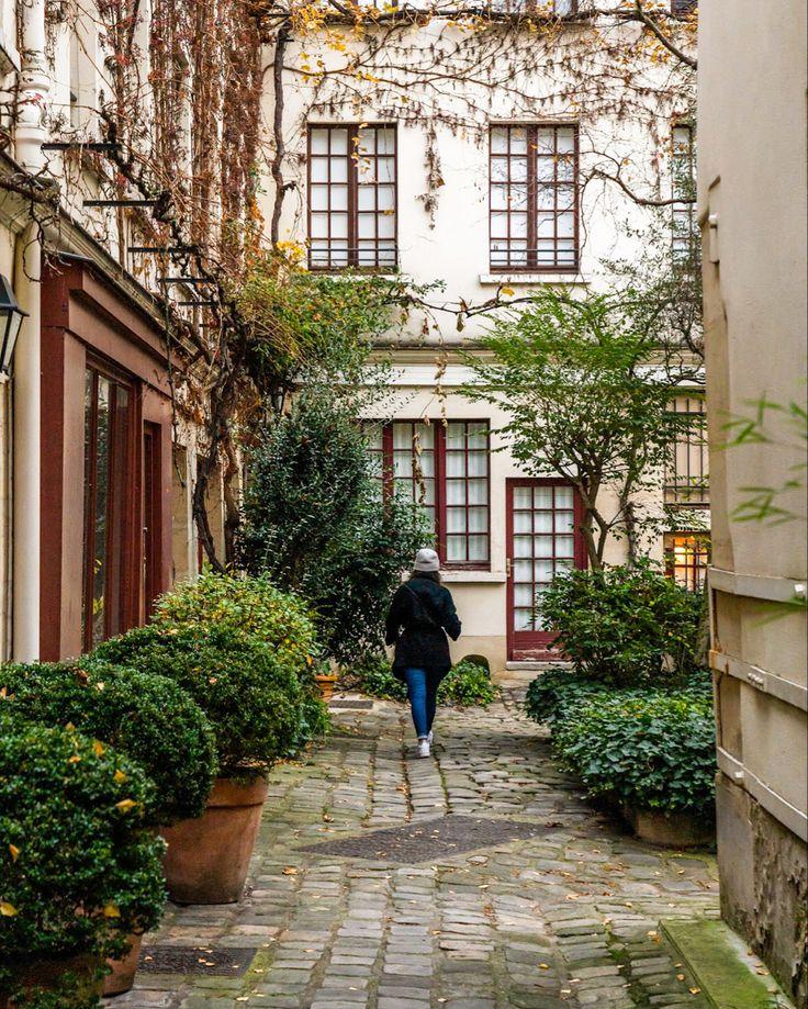 Hidden place in Bastille district in Paris paris
