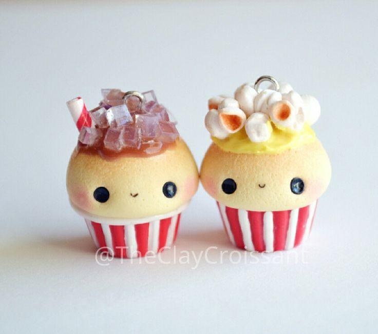 kawaii or die — Kawaii Popcorn and Soda BFF Cupcake Charms - BFF...