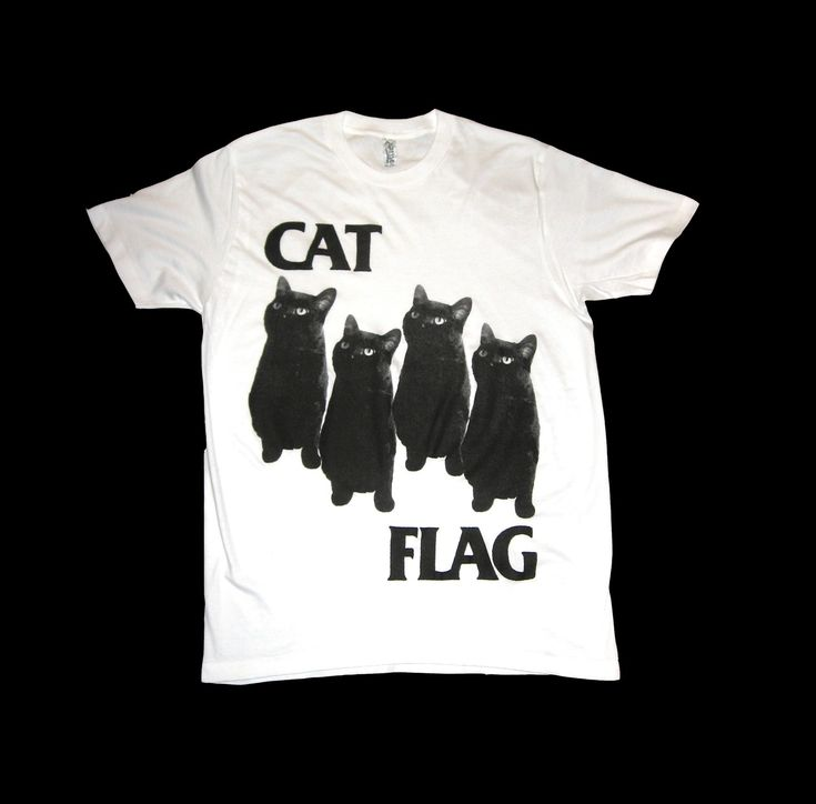 Black Flag CAT FLAG T Shirt Size Small by SleazySeagull on Etsy. $23.99, via Etsy.