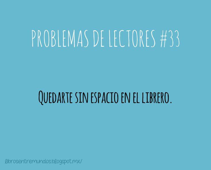 PROBLEMAS DE LECTORES #33 Quedarte sin espacio en el librero Hahaha pasa muy a menudo !