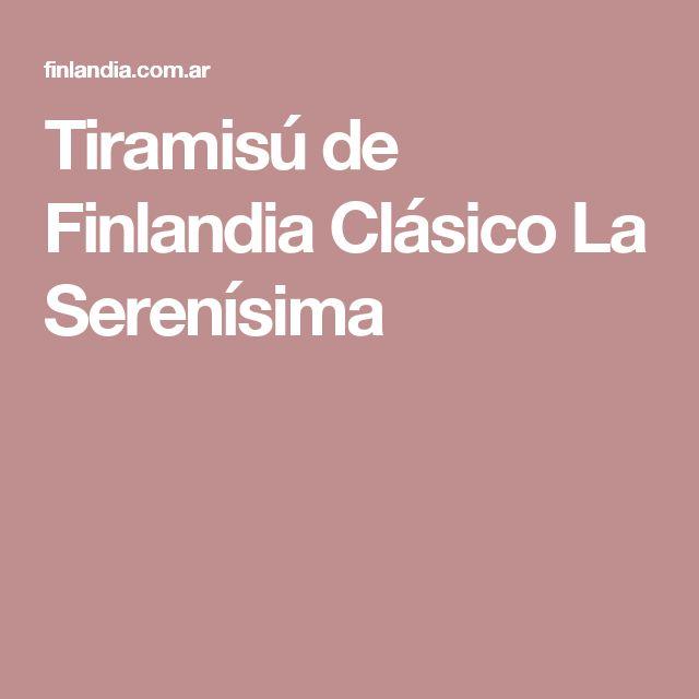 Tiramisú de Finlandia Clásico La Serenísima