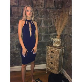 @taylor.wauchope in our Passion Fusion Navy Plunge Midi Dress. Loving this look😍 #fashion #style #dress