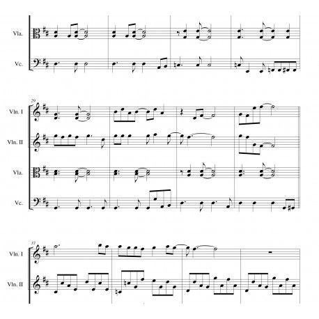 SWEET CHILD O' MINE (Guns N' Roses) arranged for string quartet.