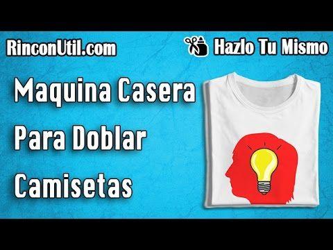 Maquina para doblar camisetas | Doblador de camisetas casero - YouTube