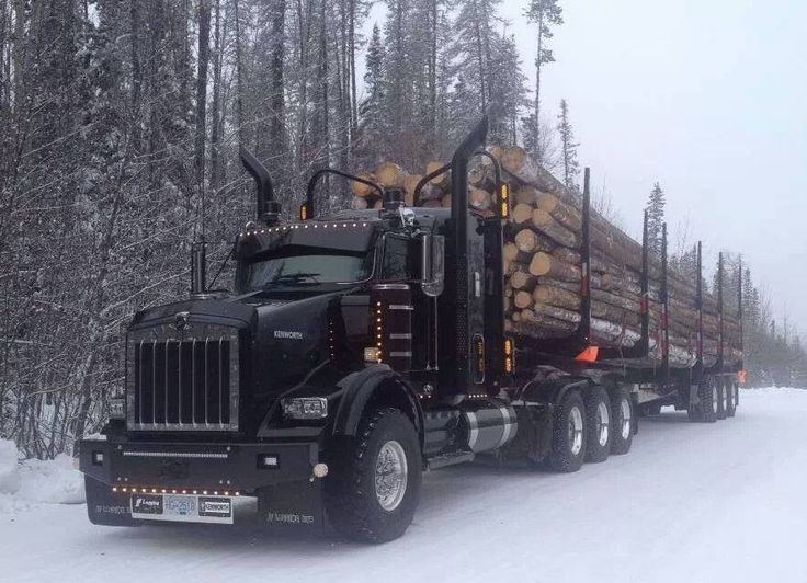 Bad ass KW heavy haul log truck