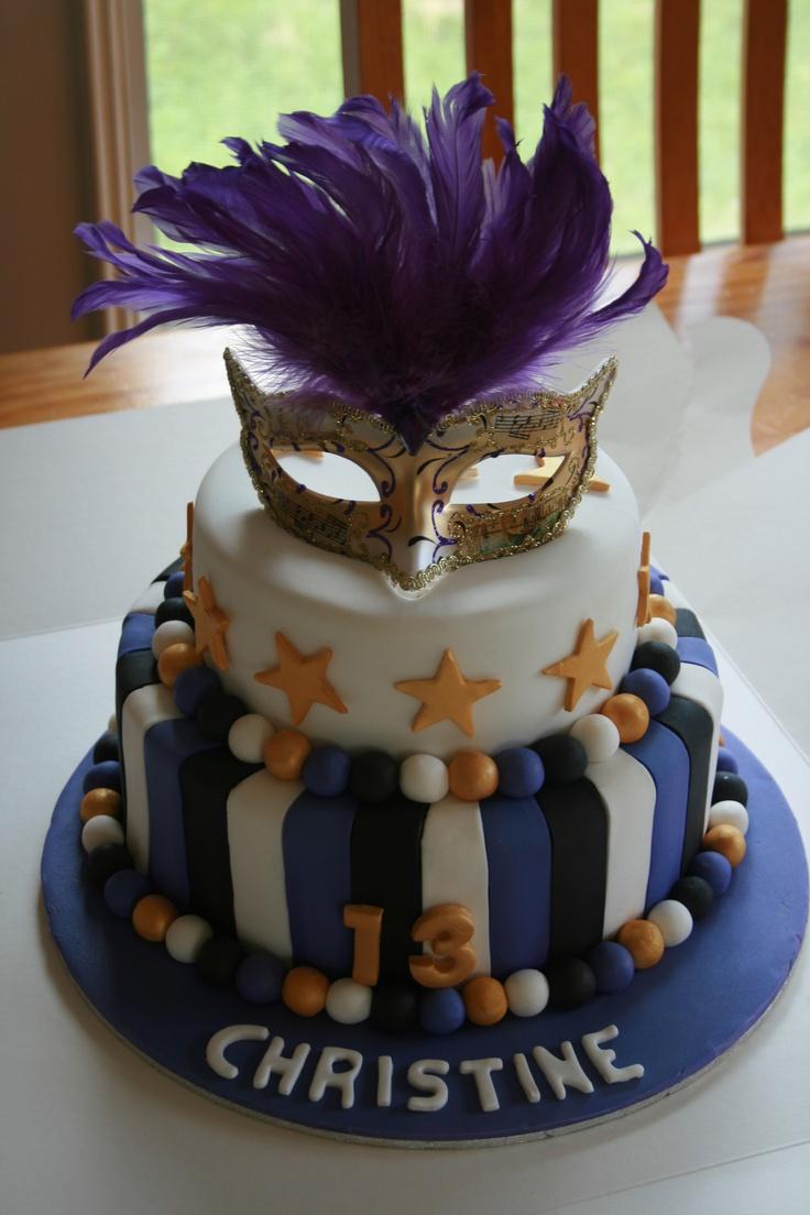 Masquerade Birthday Cake Kid Birthdays Pinterest