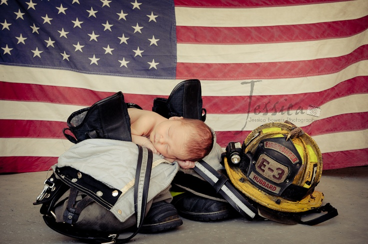 Newborn Fire fighter shoot. Blessings! | Jessica Bowers Photography