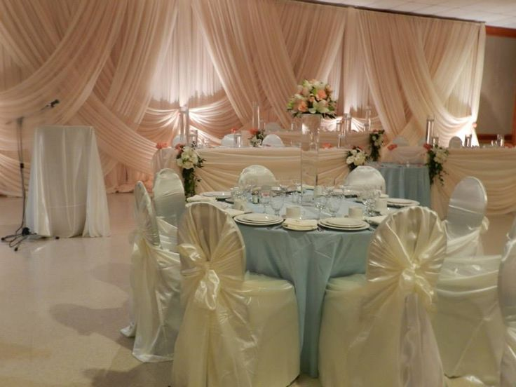 Lovely pastel colour decor at Willistead Manor. Decor by Gail's Flowers. www.weddingshows.com