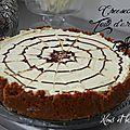 Cheesecake sans cuisson et sa toile d'araignée