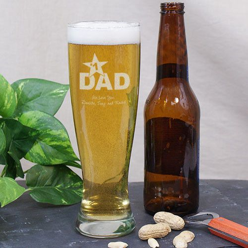 Personalized Glass Pilsner for Dad #fathersday