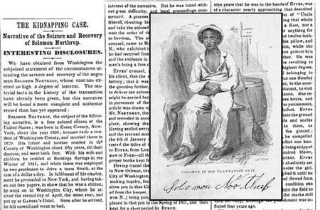 Take a Look at Solomon Northup's 1853 New York Times Profile - COLORLINES