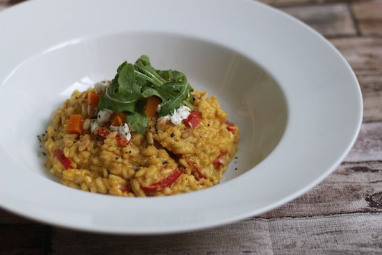 Emily's Recipes and Reviews | UK Food Blog | Leicestershire : butternut squash and goat's cheese risotto.