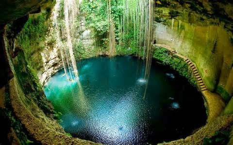 Cenote Yucatan, Mexico Hd Desktop Wallpaper Spring
