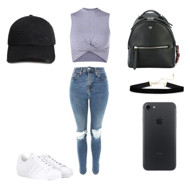 """""""Untitled #148"""" by barbarapalvine22 on Polyvore featuring Topshop, Fendi, adidas and 21 Men"""