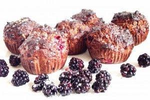 Eiwit muffins met bramen