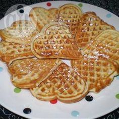 Foto recept: Malse zoete hartvormige wafeltjes
