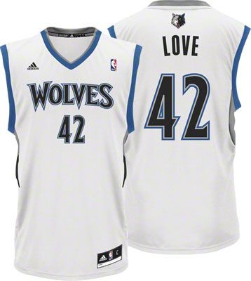 Minnesota Timberwolves Kevin Love 42 White Authentic Jersey Sale