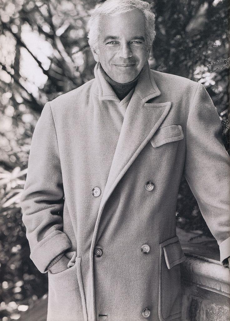 Mr. Ralph Lauren himself; camel hair polo coat