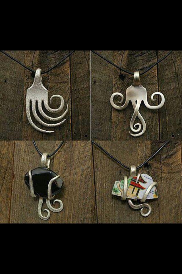 Idée de bijoux à faire avec une fourchette                              …