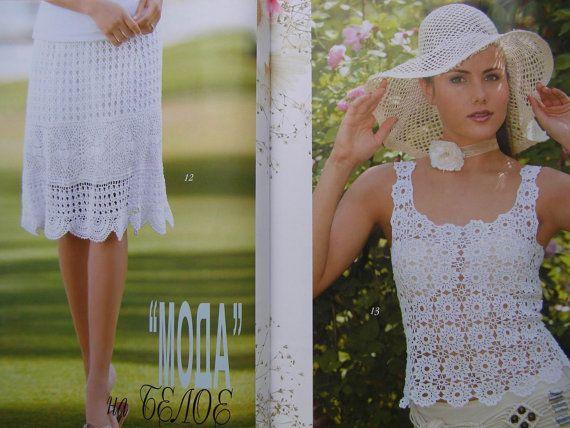 Crochet patterns Fashion Magazine Zhurnal Mod No 569 by sneg78