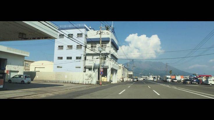 鹿児島市の風景 磯海水浴場から新港へ タイムラプスと5倍速車載動画をShot on iPhone