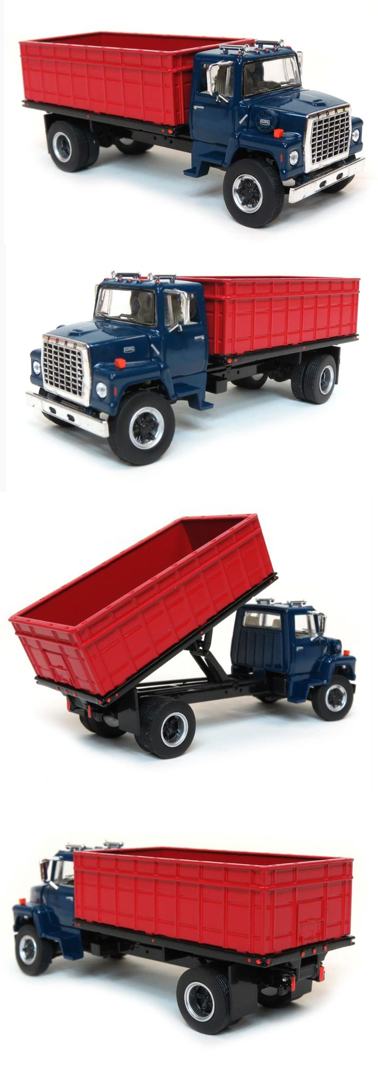 Contemporary manufacture 180506 new 1 64 top shelf replicas ford l9000 grain truck blue