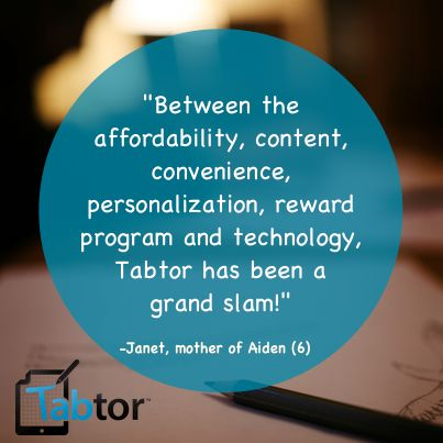 No other program gives you the personalization that Tabtor does for the cost!