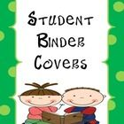 These adorable student binder covers will help keep your students organized all year long. This packet includes  binder covers for a boy and a girl binder covers for girls. $