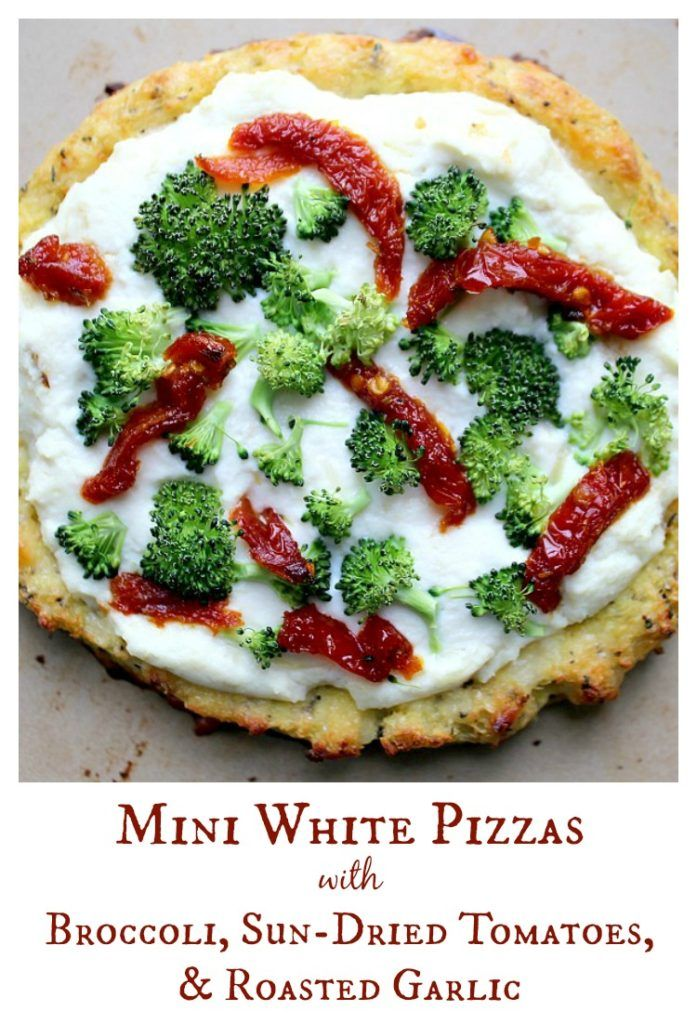 Mini White Pizza's with Broccoli, Sun-Dried Tomatoes ...