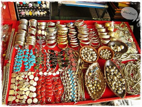 Shop at Ubud market for wooden handicrafts and silver jewellry
