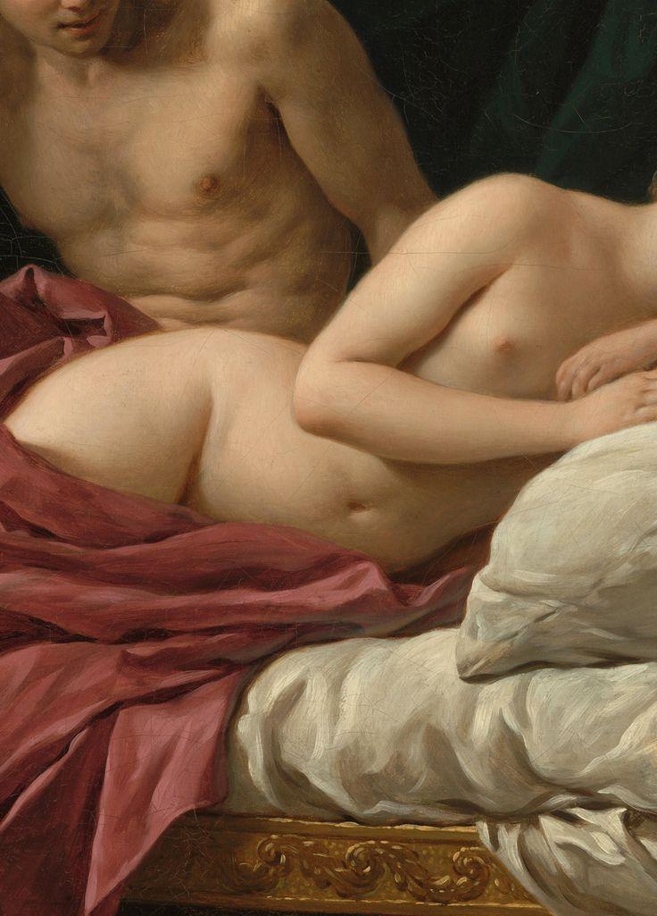 """Louis-Jean-François Lagrenée,Mars & Venus: """"Allegory of Peace"""" (detail) 1770"""