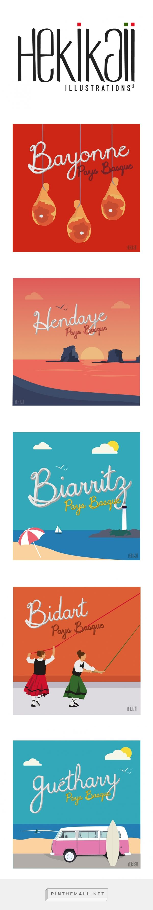 5 Cartes Postales Pays Basque | Hekikaii Illustrations    #cartepostale #illustration #vacances #paysbasque #ocean #surf - created via https://pinthemall.net