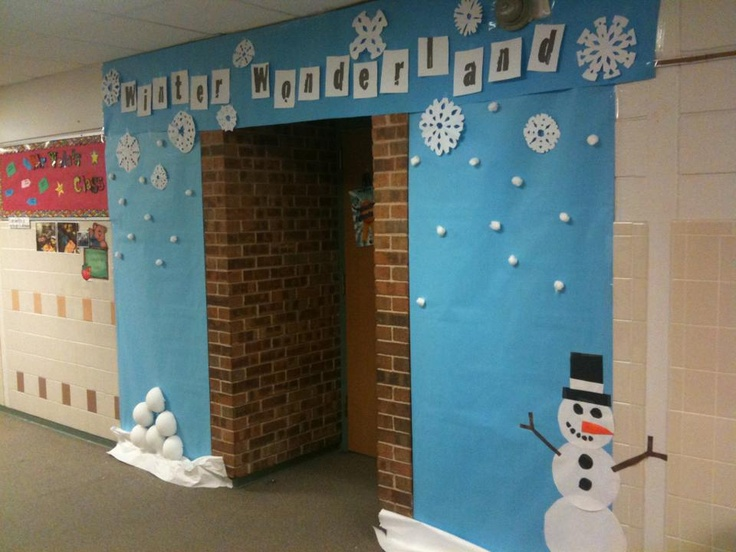 Winter Decorations For Preschool Classroom ~ Winter wonderland classroom door decor love this