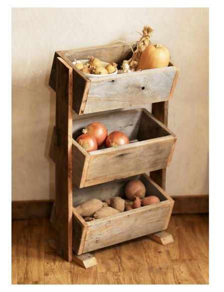 Potato Bin / Vegetable Bin Barn Wood Rustic By GrindstoneDesign   Home Decor