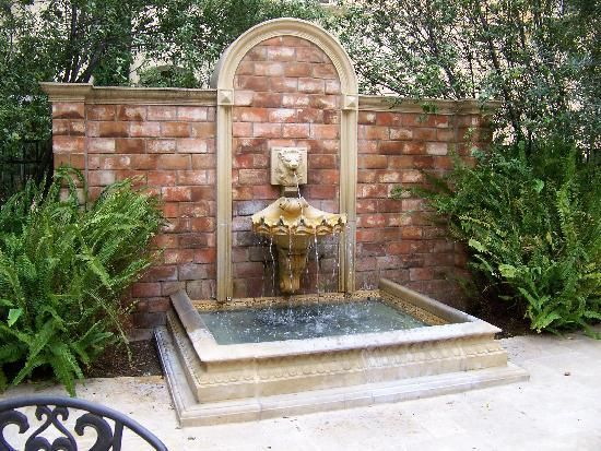 wall fountain in courtyard google search