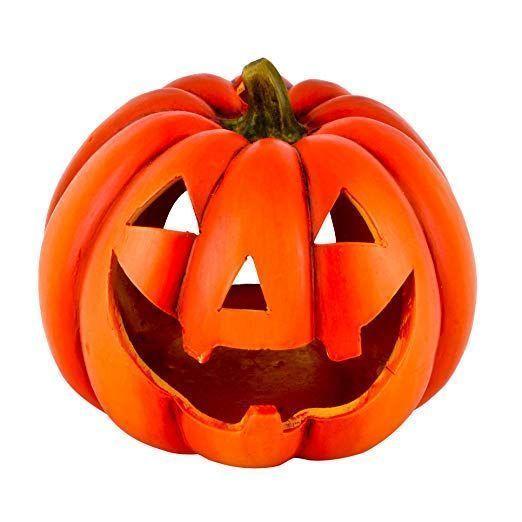Dadeldo Home Kurbis Deko Objekt Herbst Halloween Keramik Orange 15x19x19cm Herbstdeko Eingangsbereich Tisch Basteln Herbst Halloween Kurbis Deko Herbstdeko