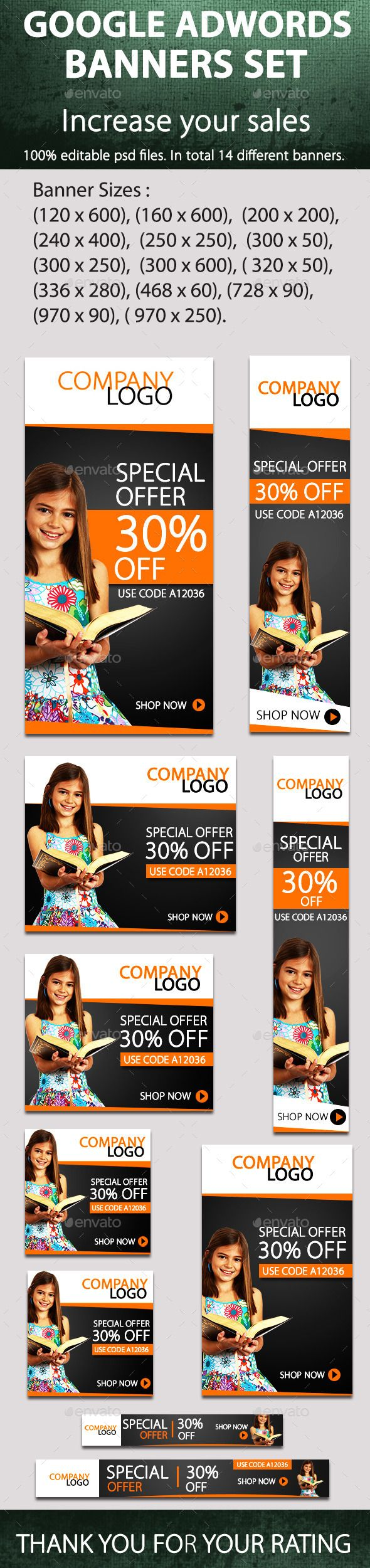 Promotional Banners - Banners & Ads Web Template PSD. Download here: http://graphicriver.net/item/promotional-banners/9067284?s_rank=1322&ref=yinkira