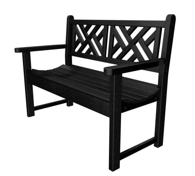 Inspiration For A Black Patio Bench