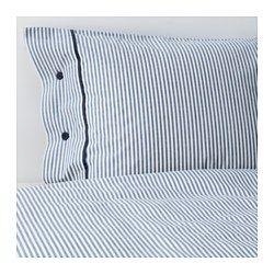NYPONROS Påslakan 1 örngott, vit/blå - vit/blå - 150x200/50x60 cm - IKEA