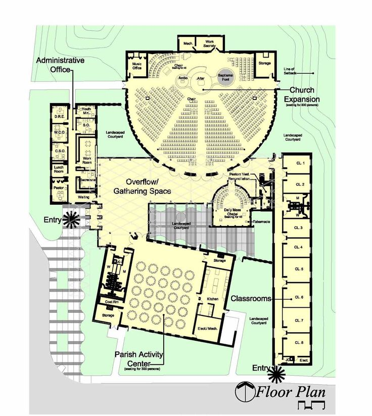 53 best church design floor plan images on pinterest for Church floor plan designs