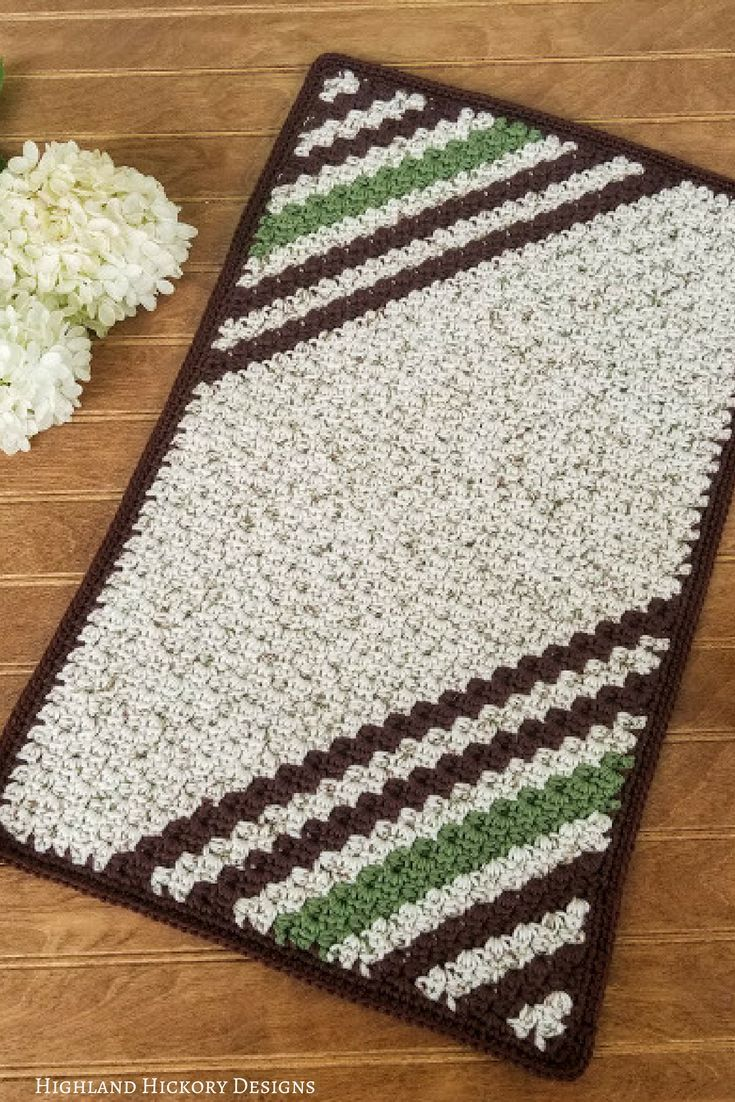 Striped Hand Towel - Highland Hickory Designs - Free Crochet Pattern ...