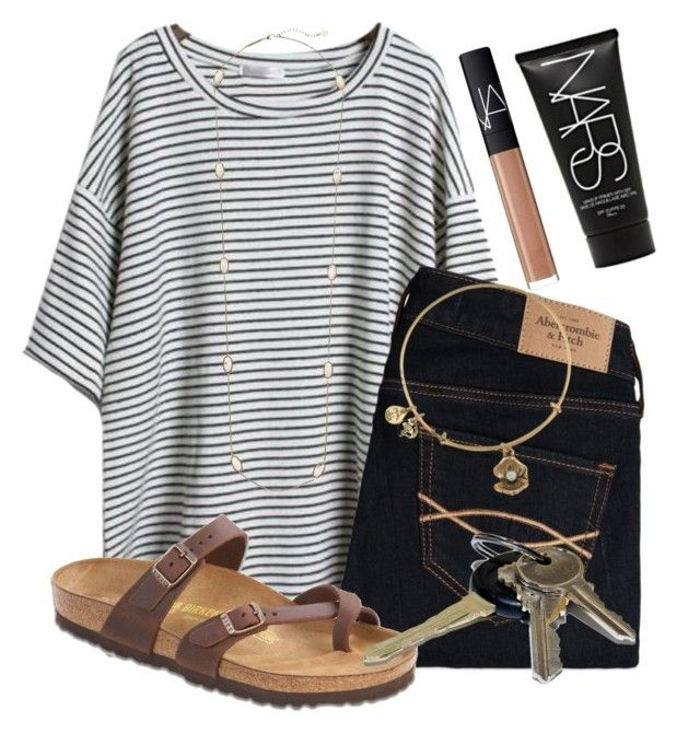 """""""Driving lessons with my dad """" by kari-luvs-u-2 ❤ liked on Polyvore featuring Abercrombie & Fitch, Birkenstock, Alex and Ani, Avon, Kendra Scott and NARS Cosmetics"""