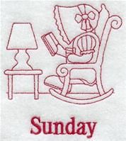 Machine Embroidery Designs at Embroidery Library! - A Days of the Week Redwork Sunbonnet Sue Pack - Md