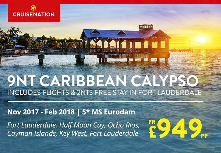 7nt Caribbean Cruise with 2nt Fort Lauderdale Stay on Holland America Line's MS Eurodam from just 949pp!!  - Includes Flights - Includes 2nts Fort Lauderdale Stay - Full Board Cruise - Departures between Nov 17' - Feb 18' - 7nts Caribbean Cruise visiting Half Moon Cay Ocho Rios Cayman Islands and Key West - 5 Cruising - Ocean-view upgrade fr. 99pp - Balcony upgrade fr. 179pp  Price was 1299pp - at today's price of 949pp that is a massive saving of 350pp!! #cruises #travel #caribbean…