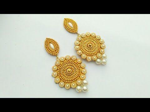 How To Make Designer Earrings // How To Make Paper Earrings // Paper Jewellery Making //DIY - YouTube