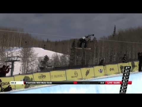 Arielle Gold's 3rd place run at the Burton US Open 2013 - Halfpipe Finals